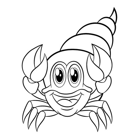Krabbe. Malbuch-Design Für Kinder Und Kinder. Vektorabbildung ...