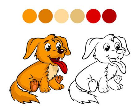 子供と子供のためのカラーリング ブック デザイン。