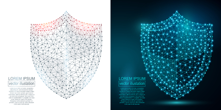 Polygonal security shield abstract image. Imagens - 87923677