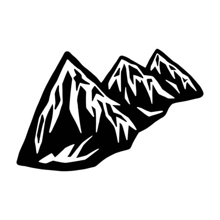 Mountain landscape silhouette icon. Design element for poster, card, banner. 写真素材 - 130095790