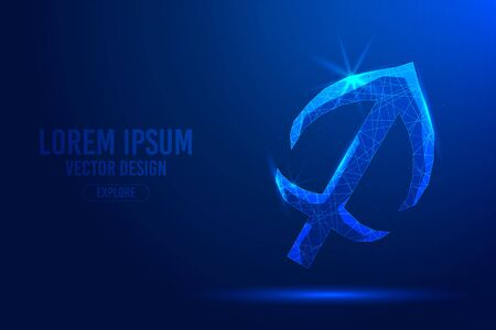 Sagittarius ninth zodiac sign abstract background. Low poly wireframe digital banner. Linear and polygonal 3D concept of horoscope, celestial constellation. Illustration