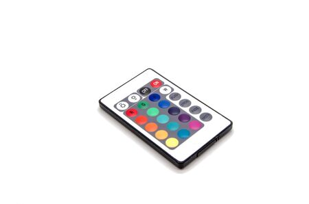 Universal color control with multi-colored buttons on a white background isolated Stock Photo