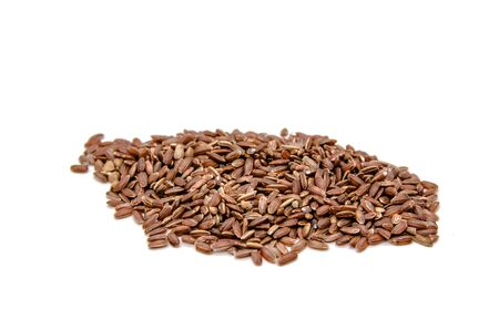 brown ruby rice on a white isolation background