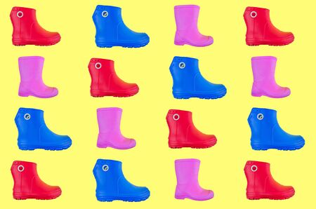 pattern Rubber boots EVA for the family