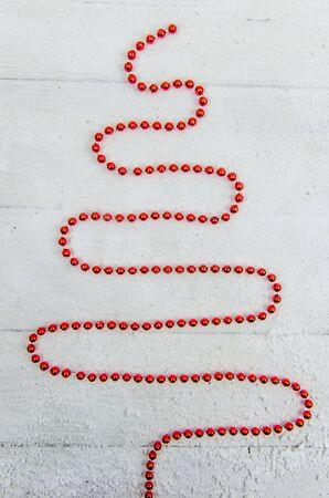 Herringbone from the red Christmas garland