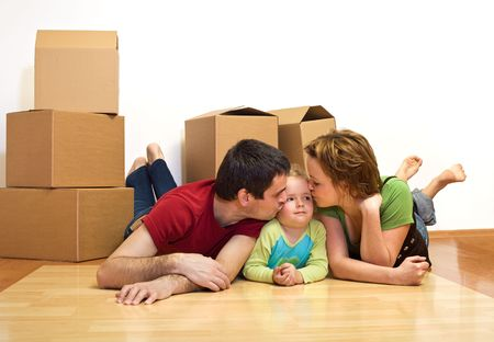 You will have your own room here - young family in their new home, moving concept photo