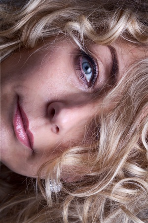 Mature beauty face closeup Stock Photo - 12148739