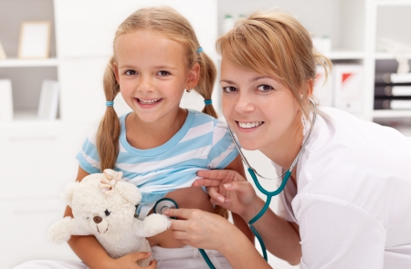 examine: Little girl at the doctor