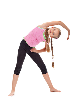 M? Oda dziewczyna ocieplenie robi rozci? Ganiem i elastyczno? Ci gimnastyczne? Wiczenia - pojedyncze