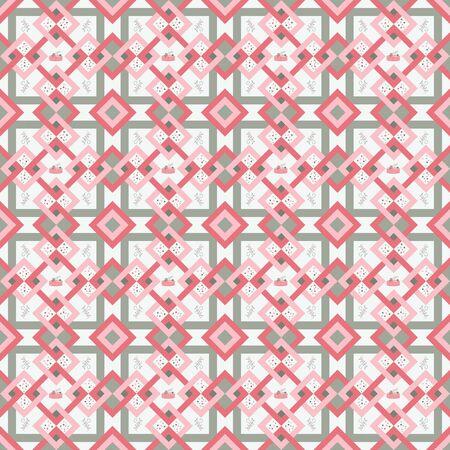 Seamless geometric pattern gray and pink