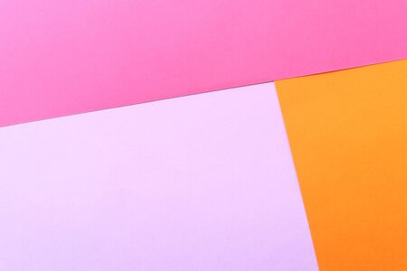 Pink, orange. Flat lay. Spring concept. Colorful background. Background with pink and orange colors. Banco de Imagens
