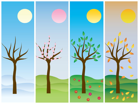 4 pictures with seasons Stock Vector - 1478789