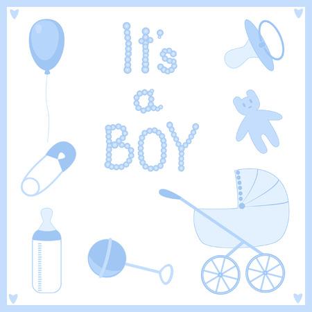 grzechotka: It's a boy. Zestaw tematów na noworodka.