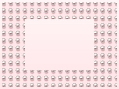 Pearl frame on pink background Stock Photo