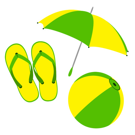 flip flop: Flip flops colors of rainbow  Illustration