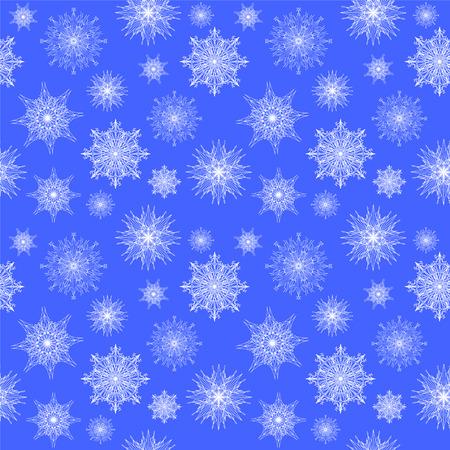 Seamless background with white snowflakes
