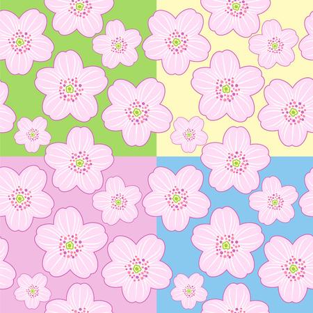 Seamless sakura blossom Vector
