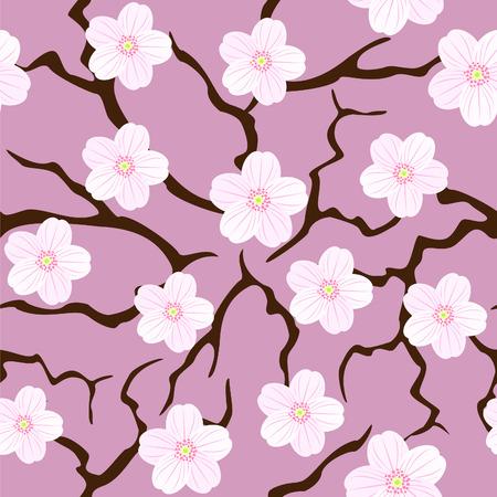 flor de sakura: Sakura en flor perfecta Vectores