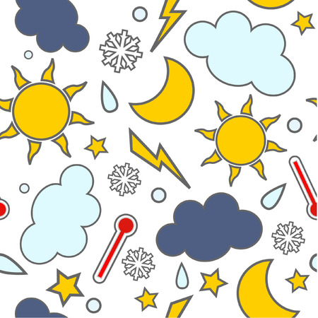 partly sunny: Weathers seamless