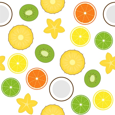 Seamless with fruits Vector