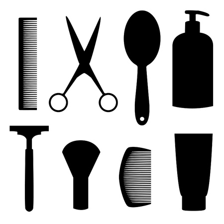 hairdressing equipment Illustration
