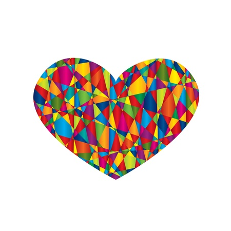 Heart with mosaic pattern