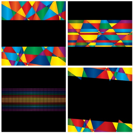 Four abstract background