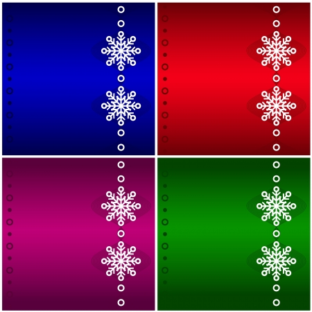 Four Christmas background.  Vector