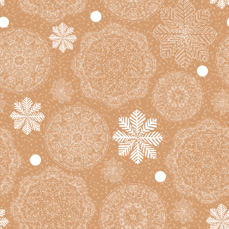 printable: Rustic winter seamless pattern for scrapbook paper design for Merry Christmas. Printable. Vector illustration.