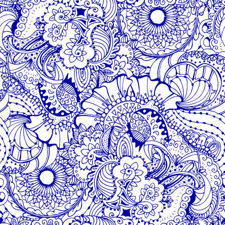 headscarf: Coloring book page design with pattern. Mandala ethnic ornament. Isolated vector illustration in zentangle style.