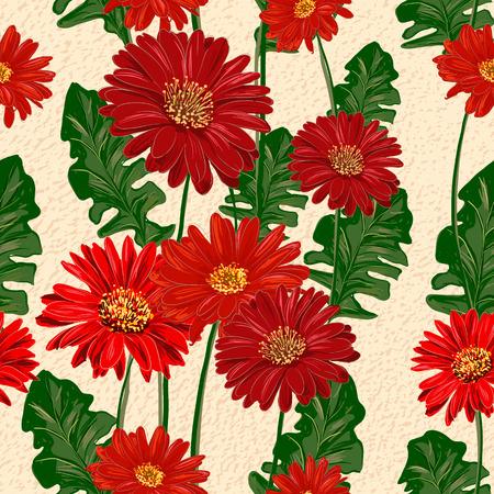 gerbera: Gerbera seamless pattern Illustration