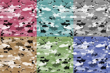 vector fabric: Camouflage set, vector fabric pattern.Can be used for background design, military textile.