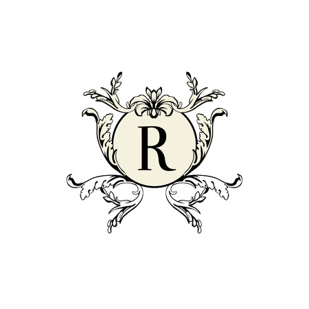 r frame Stylish and elegant frame design template with letter R Vector  illustration  R Frame. Stylish R Images