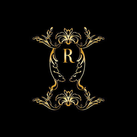 r wedding  Stylish and elegant monogram design template with letter R   Vector illustration. R Wedding Stock Photos   Pictures  Royalty Free R Wedding Images