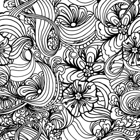 neckwear: Coloring book page design with pattern. Mandala ethnic ornament. Isolated vector illustration in doodle style. Headwear or neckwear design. Illustration