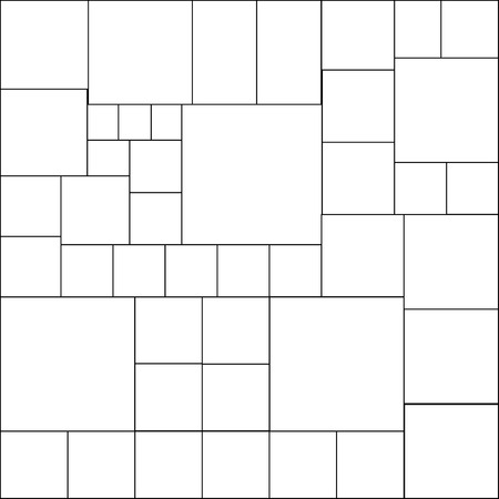 Simple tile with squares. Black contour. Seamless attern for modern fabric design. Vectro illustration. Illustration