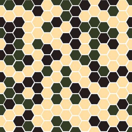 camo: Gexagonal camouflage. Vector digital camo seamless pattern