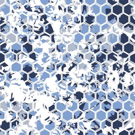 camoflage: Hexagonal camouflage.Vector digital gexagonal camo seamless pattern