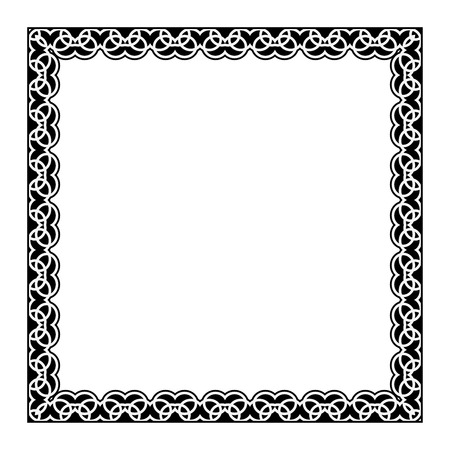 gypsy: Gypsy ornamental frame. Vector square frame. Decorative border for photo Illustration