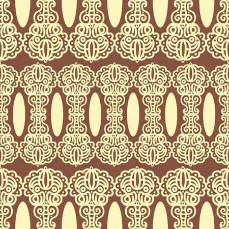 used ornament: Seamless pattern with damask ornament. Can be used for fabric textile design Illustration