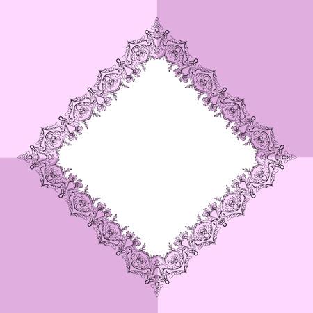 gitana: Marco ornamental gitana. Marco de rombo vector. borde decorativo para la foto