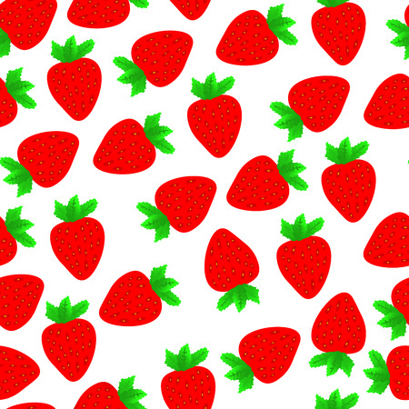 Red strawberries seamless pattern. Fashion tablecloth fabric design
