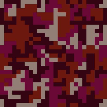textile industry: Pixel camo seamless pattern. Fashion pink trendy camouflage for game industry. Vector fabric textile print design. Femimine style Illustration