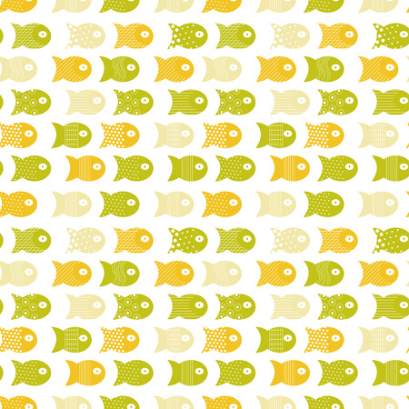 Fish seamless pattern for fabric textile design, pillows, wallpapers,cloth,bags,scrapbook paper. Vector illustration