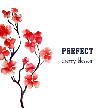Folleto De Cuatro Páginas Con Flor De Cerezo O árbol De Sakura ...