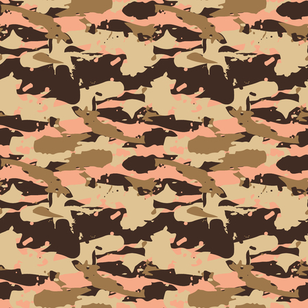 camoflage: Beige desert seamless pattern - Camouflage vector background for fabric textile design.