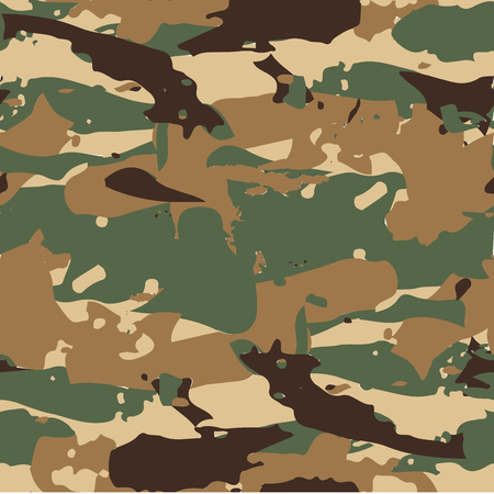 Classic Seamless Military Forest Camouflage Pattern Background Vector.