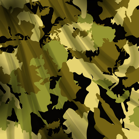 camoflage: Drapery camouflage Modern illustration of a  fabric textile background. Military pattern