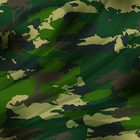 camoflage: Drapery camouflage fabric textile background. Military pattern