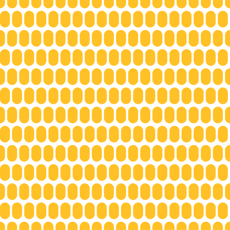 Corn grain in the form of a seamless background. Maize plant. Realistic vector creative illustration